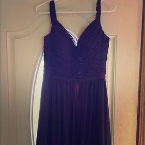Purple Dress Long. Bridesmaid Dress